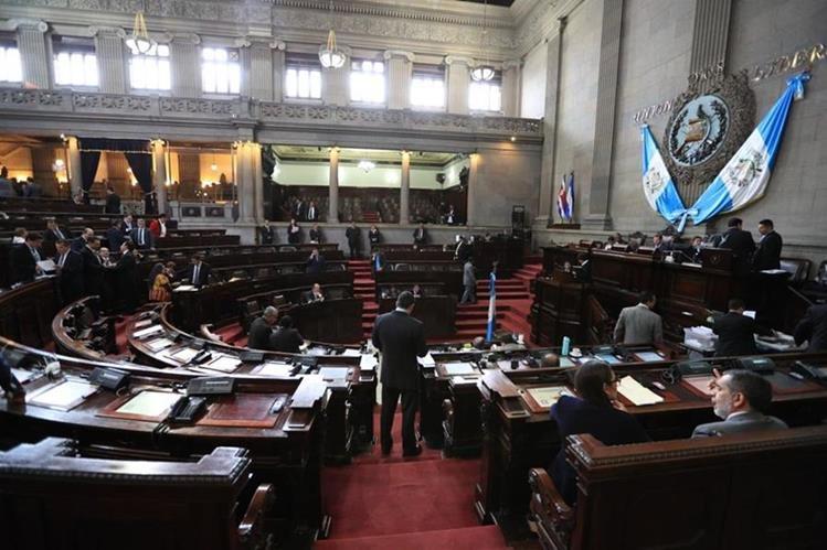 Hemiciclo del Congreso de la República, donde este jueves se elegirá a la nueva junta directiva. (Foto Prensa Libre: Hemeroteca PL).