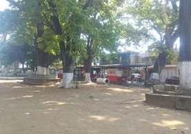 Parque la Independencia, en la zona 3 de Retalhuleu, donde la joven abusada habría llegado. (Foto Prensa Libre: Rolando Miranda)