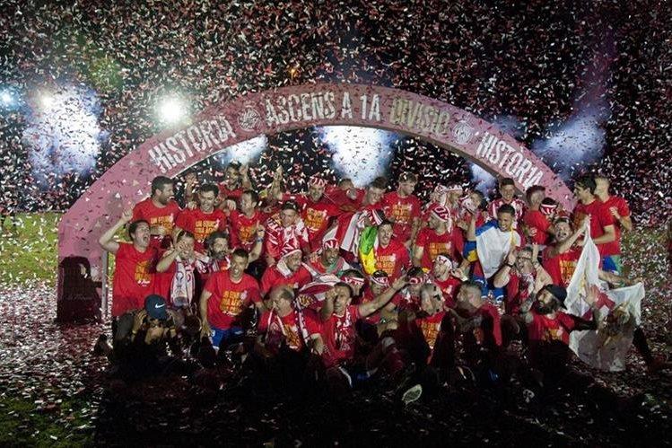 El Girona jugará por primera vez en la Primera División de la Liga española. (Foto Prensa Libre: Girona).