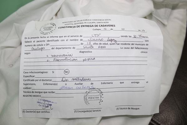 """<p>El menor Isauro López, de un año y diez meses, falleció a causa de desnutrición severa. (Foto Prensa Libre: Oswaldo Cardona)<br _mce_bogus=""""1""""></p>"""