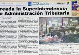Nota del 13 de enero de 1998 en la cual se anuncia la creación de la SAT. Foto: Hemeroteca PL