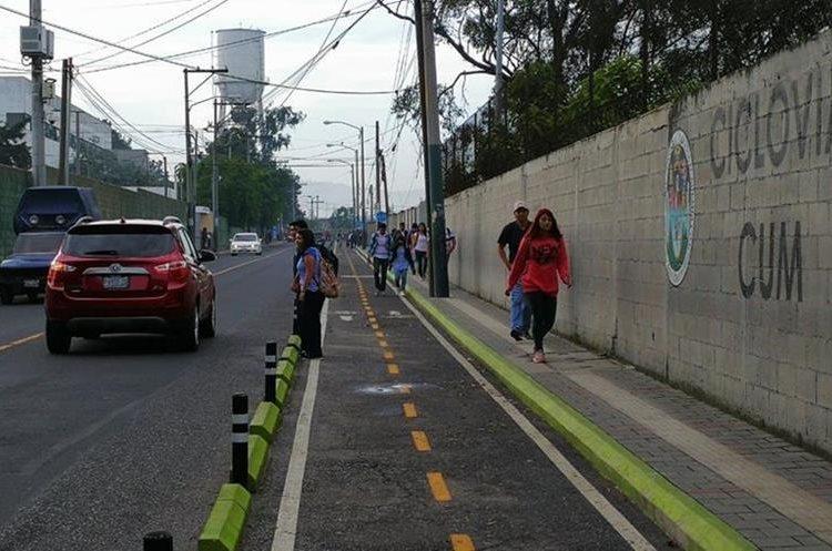Estudiantes piden mayor seguridad en instalaciones y alrededores del CUM. (Foto Prensa Libre: Estuardo Paredes)