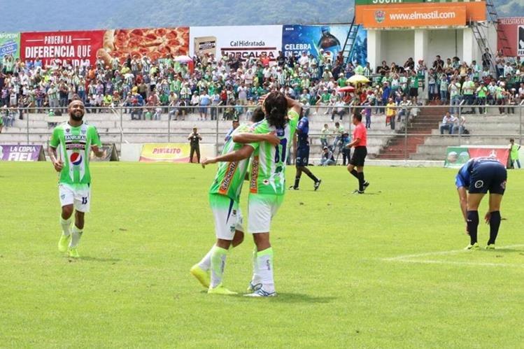 Agustín Herrera fue pieza clave en la victoria de Antigua GFC contra Suchitepéquez. (Foto Prensa Libre: Renato Melgar)