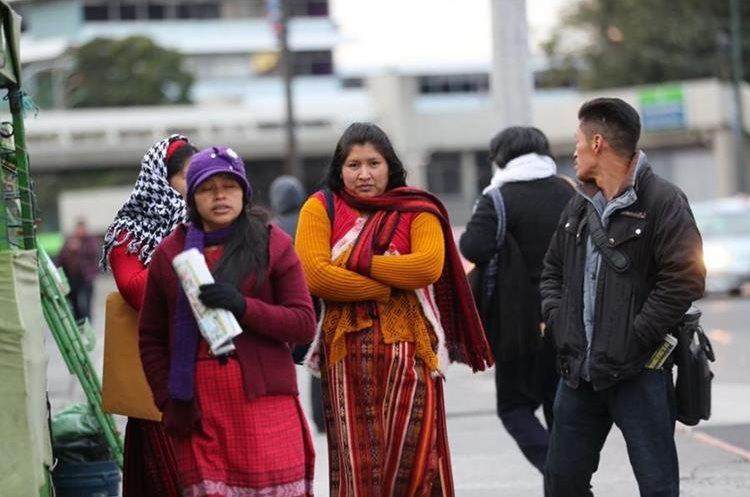 Las temperaturas en Guatemala llegaron a los 8 grados Celsius. (Foto Prensa Libre: Érick Ávila)