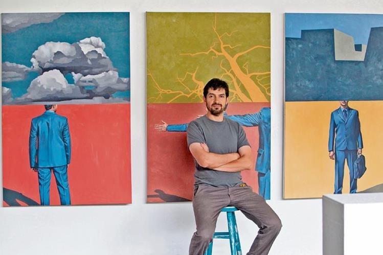 Érick Menchú expone una serie de obras dedicada a la cotidianidad de la sociedad.
