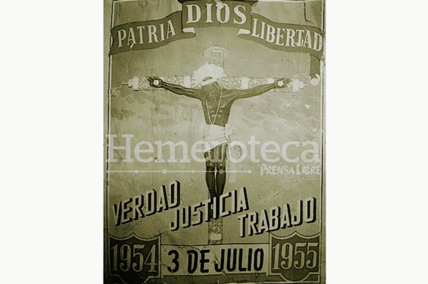 Propaganda del movimiento de liberación nacional en el primer aniversario del Día de la Liberación. (Foto: Hemeroteca PL)