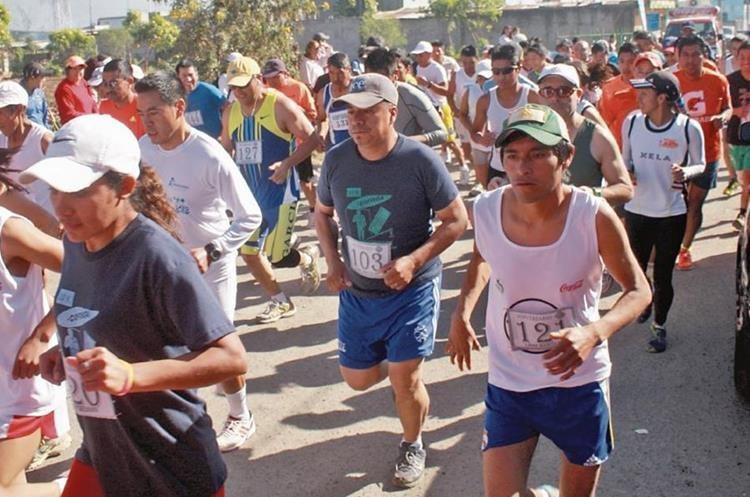 La edición 43 del medio maratón de Cobán es uno de los principales eventos deportivos. (Foto Prensa Libre: Hemeroteca PL)