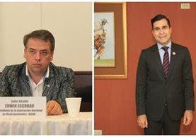 Los alcaldes Edwin Escobar y Neto Bran fueron señalados por inadecuados manejos de recursos financieros en las comunas. (Foto Prensa Libre: Hemeroteca PL)