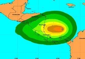 Ubicación de la decimosexta depresión tropical en el Atlántico.(CNH).
