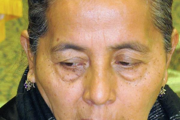 Agapita Montes, madre de Zambrano, espera justicia.