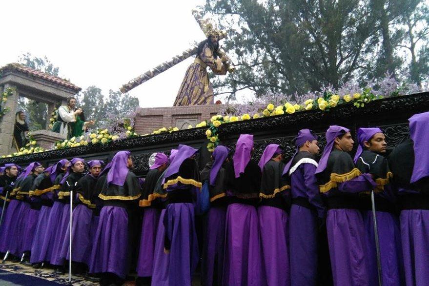La procesión de Jesús de la Merced es una de las más emblemáticas. (Foto Prensa Libre: Óscar Rivas)