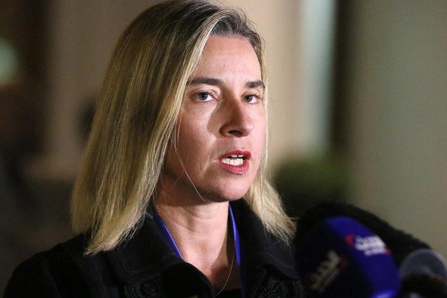 Federica Mogherini,jefa de la diplomacia europea. (Foto Prensa Libre: AP).