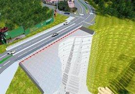 Este es el diseño del puente que se planea construir frente a Bosques de San Marino. (Foto Prensa Libre: Municipalidad de Mixco)