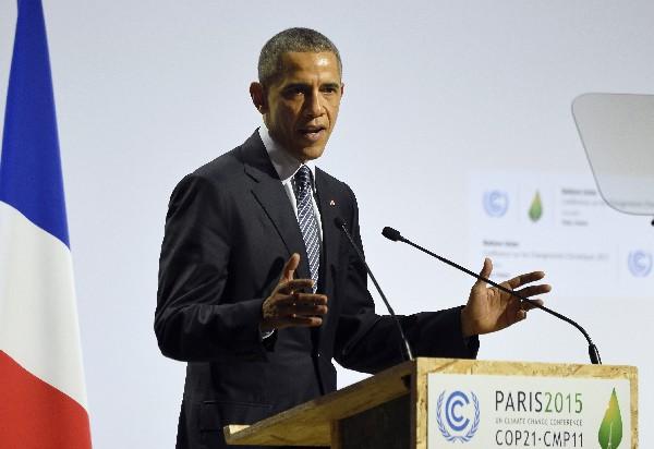 Barack Obama, pronuncia su discurso en la sesión plenaria de la cumbre sobre cambio climático.