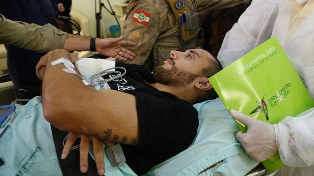Ruschel fue trasladado esta semana a Brasil. Sus médicos no descartan su regreso al terreno de juego. (Getty)