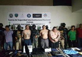 Los capturados son señalados de dirigir la pandilla 18, la cual tiene presencia en otros países de la región, como Guatemala y El Salvador. (Foto Prensa Libre: FNA Honduras)