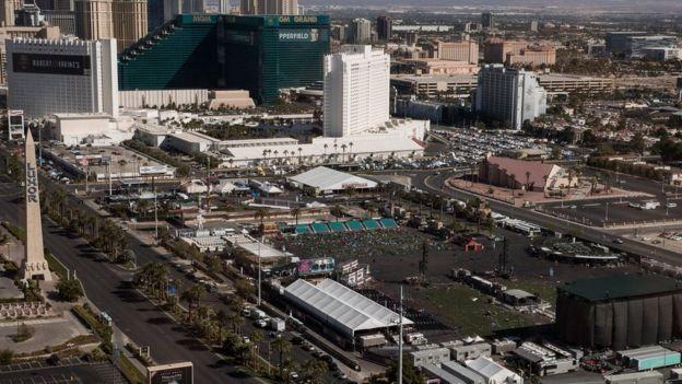 """El tiroteo sucedió en """"The Strip"""", el bulevar más emblemático y conocido de Las Vegas. GETTY IMAGES"""