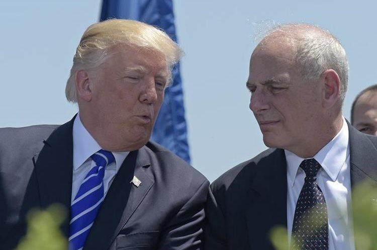 Trump anunció el nombramiento del general John Kelly, actual secretario de Seguridad, como nuevo jefe de Gabinete.(AP).