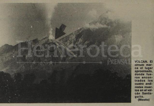 El volcán presentaba una serie de explosiones de consideración al momento de la tragedia. (Foto: Hemeroteca PL)