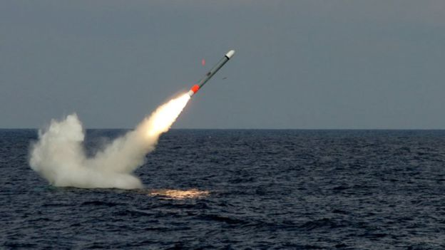 """""""Son los misiles de crucero más avanzados"""", dice Raytheon, la empresa detrás de su fabricación. RAYTHEON"""