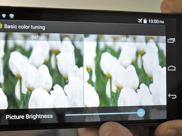 La tecnología Miravision permite modificar el brillo del monitor sin que el celular gaste más batería.