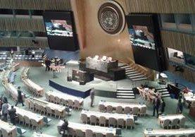 El presidente Jimmy Morales abrirá la ronda de oradores en la Sesión Especial de la ONU. (Foto Prensa Libre: Cortesía AGN)