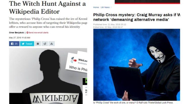 """El """"misterioso"""" editor de Wikipedia ha protagonizado historias en medios estatales rusos y en periódicos israelíes."""