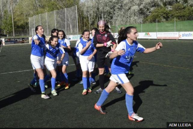 El grupo de jugadores del AEM Lleida han crecido juntas y desde pequeñas han deslumbrado por su disciplina y ambición.