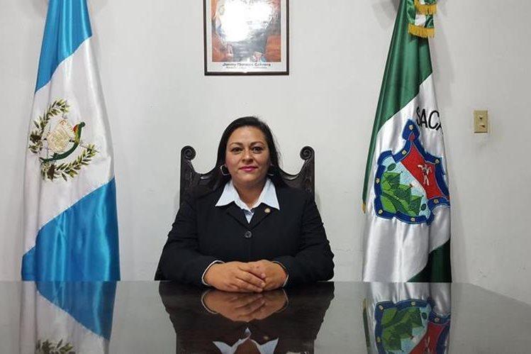 María Andrea Gaytán Vielman asume este jueves el cargo de gobernadora de Sacatepéquez. (Foto Prensa Libre: Julio Sicán)