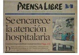 Titular de la portada del 7 de septiembre de 2003 sobre el encarecimiento hospitalario. (Foto: Hemeroteca PL)