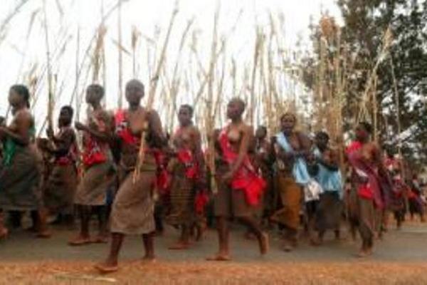 """<p>Las mujeres en Suazilandia bailan con el pecho descubierto, pero ahora tienen prohibido usar minifalda. (Foto Prensa Libre: Archivo)<br _mce_bogus=""""1""""></p>"""
