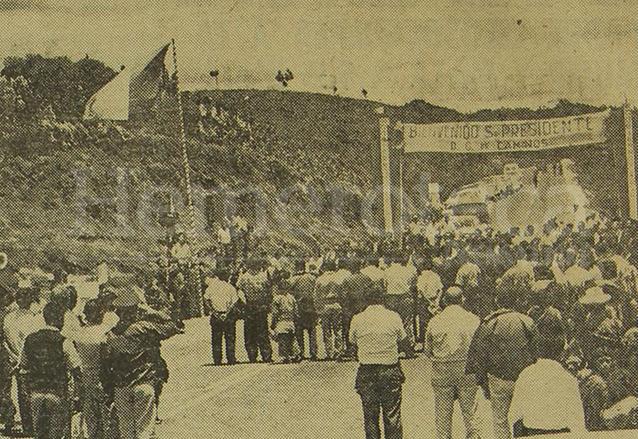 Ruta Los Encuentros, en 1967. (Foto: Hemeroteca PL)
