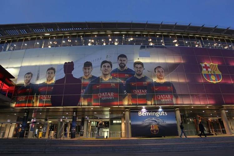 Así lucen las instalaciones del Camp Nou, donde mañana se enfrentará el Barcelona al Arsenal. (Foto Prensa Libre: Fernando López)
