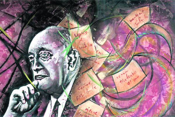Heredero de  la pluma de Gucumatz, de Esteban Solares, simboliza el legado del Premio Nobel de Literatura 1967. (Foto Prensa Libre: ESTEBAN SOLARES)