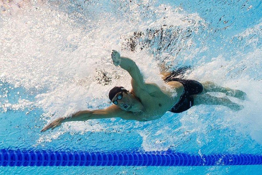 Michael Phelps durante su participación en la semifinal de 200 metros mariposa en Londres 2012. (Foto: AFP)