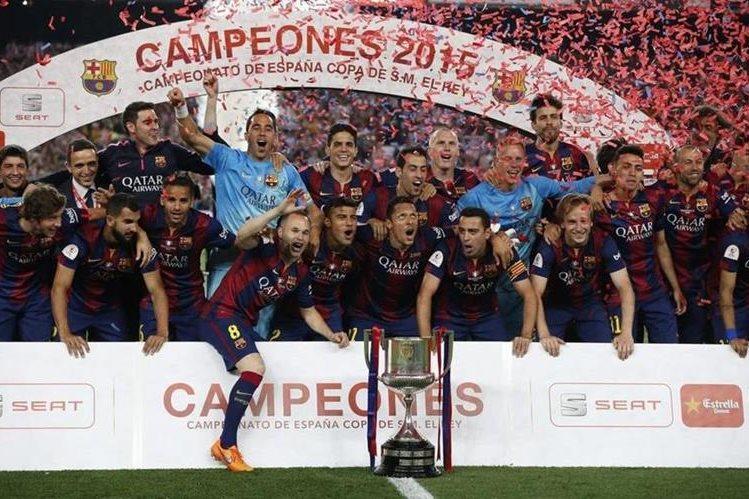 EL Barcelona, actual campeón de la Copa del Rey, disputará la serie de octavos de final contra el Espanyol. (Foto Prensa Libre: Hemeroteca)
