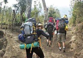 El número de turistas extranjeros que ascienden al Volcán de Acatenango se mantiene estable, mientras que el de visitantes nacionales ha bajado desde la trag edia ocurrida en enero último.