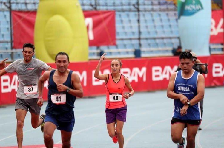La guatemalteca Heidy Villegas llegó a dos minutos de diferencia con el primer lugar. (Foto Prensa Libre: Carlos Vicente)