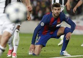 """El central del Barcelona Gerard Piqué afirmó que los italianos """"se han merecido pasar"""" . (Foto Prensa Libre: AFP)"""