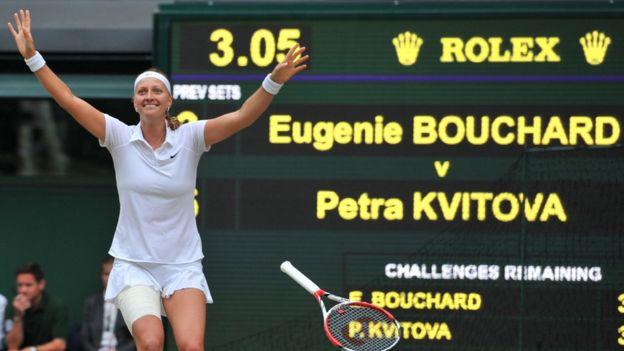 Petra Kvitova es la última zurda en ganar Wimbledon, en 2014.