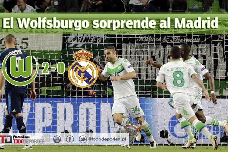 El Wolfsburgo sorprende 2-0 al Real Madrid