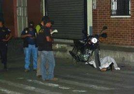 Familiares de  la víctima dijeron retornó hace unos días de Estados Unidos. (Foto Prensa Libre: Héctor Contreras)