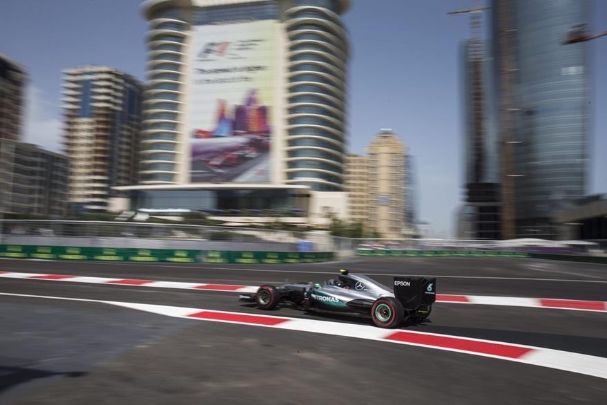 La pole del GP de Europa de lo llevó el alemán Nico  Rosberg este sábado. (Foto Prensa Libre: EFE)