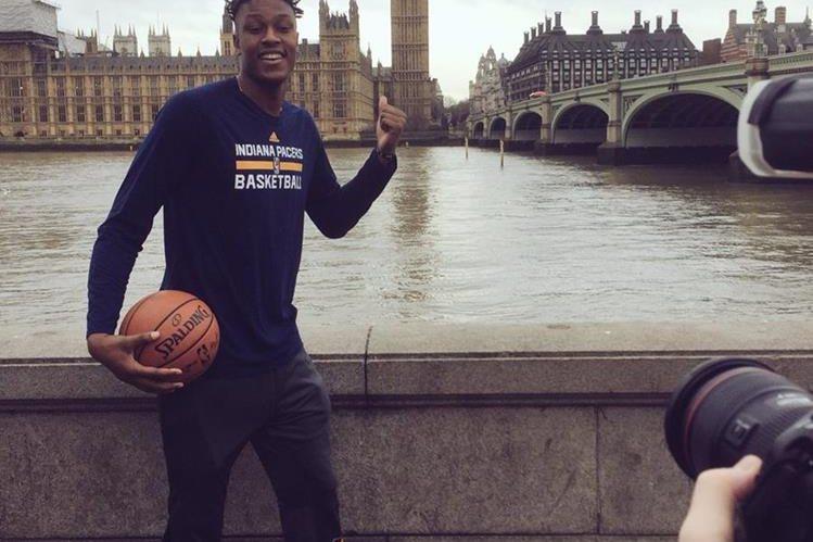 Los jugadores de Indiana ya están listos en Londres. (Foto Prensa Libre: Twitter NBA)