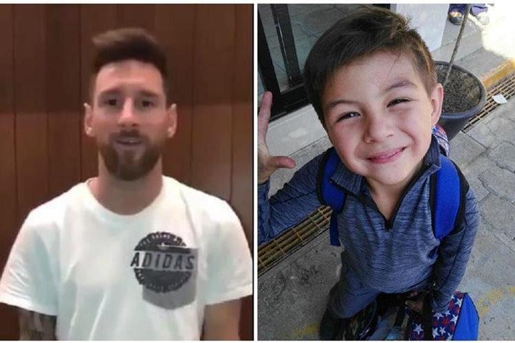 Leo Messi respondió a la familia de Leonardo Farías y le envió un mensaje de aliento al pequeño para que siga luchando por su vida. (Foto Prensa Libre: Twitter)