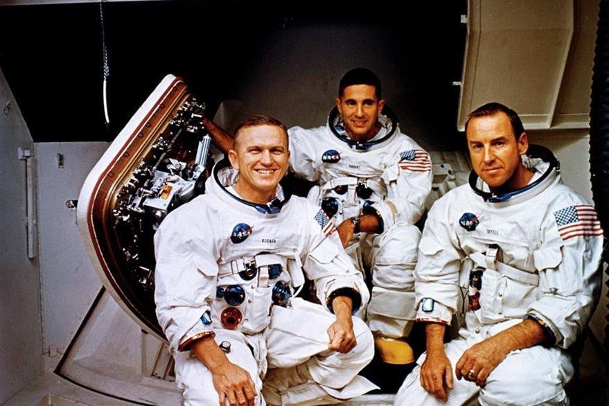 Esta es la tripulación que viajó a bordo del Apolo 8. (Foto: NASA).