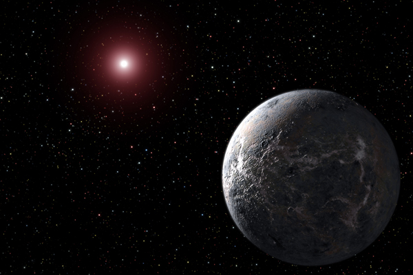 Uns foto artística muestra un exoplaneta.