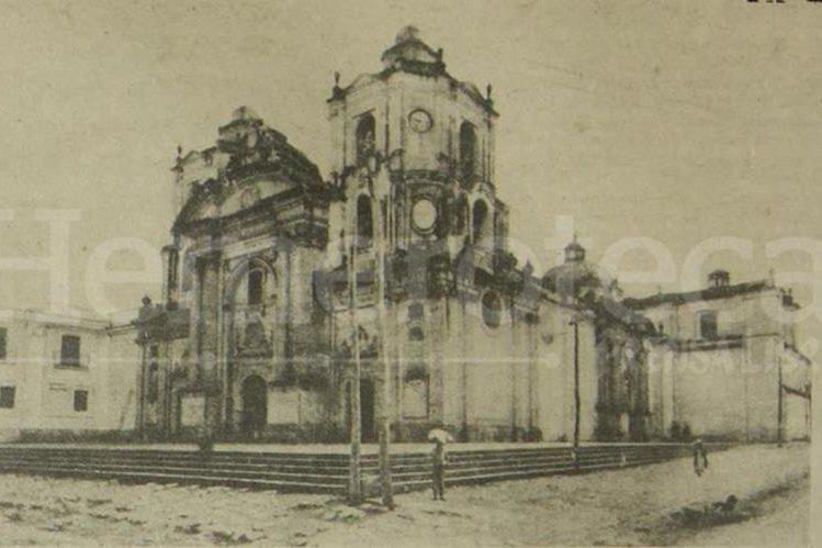 Aspecto original de la Iglesia La Merced, fotografía anterior a 1917. (Foto: Hemeroteca PL)