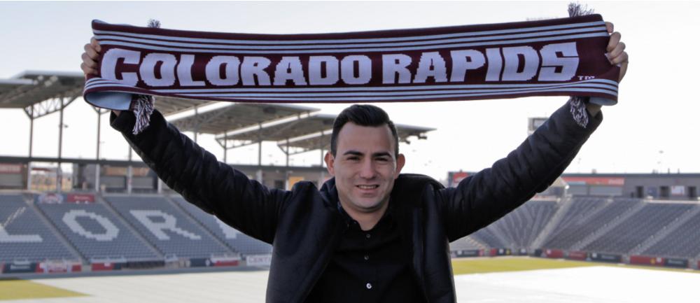 Marco Pablo Pappa espera jugar este domingo contra San José. (Foto Prensa Libre: Rapids de Colorado)