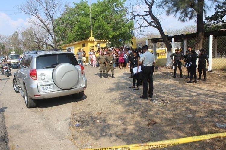 Lugar donde murió Salazar, en la cabecera de Jutiapa. (Foto Prensa Libre: Óscar González).
